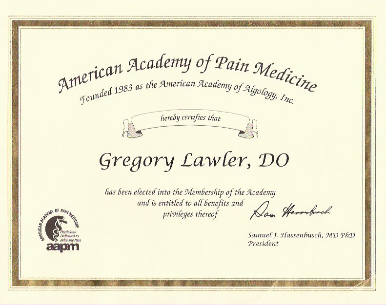 North Jersey Pain Management Dr Gregory Lawler