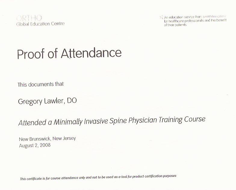 Min Invasive Spine Training 8_2008